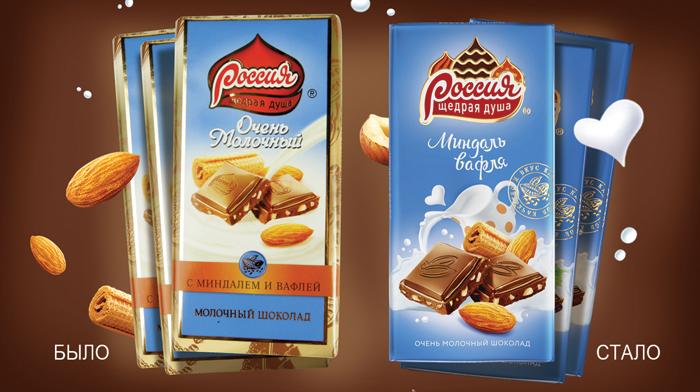 Ребрендинг шоколада Щедрая душа